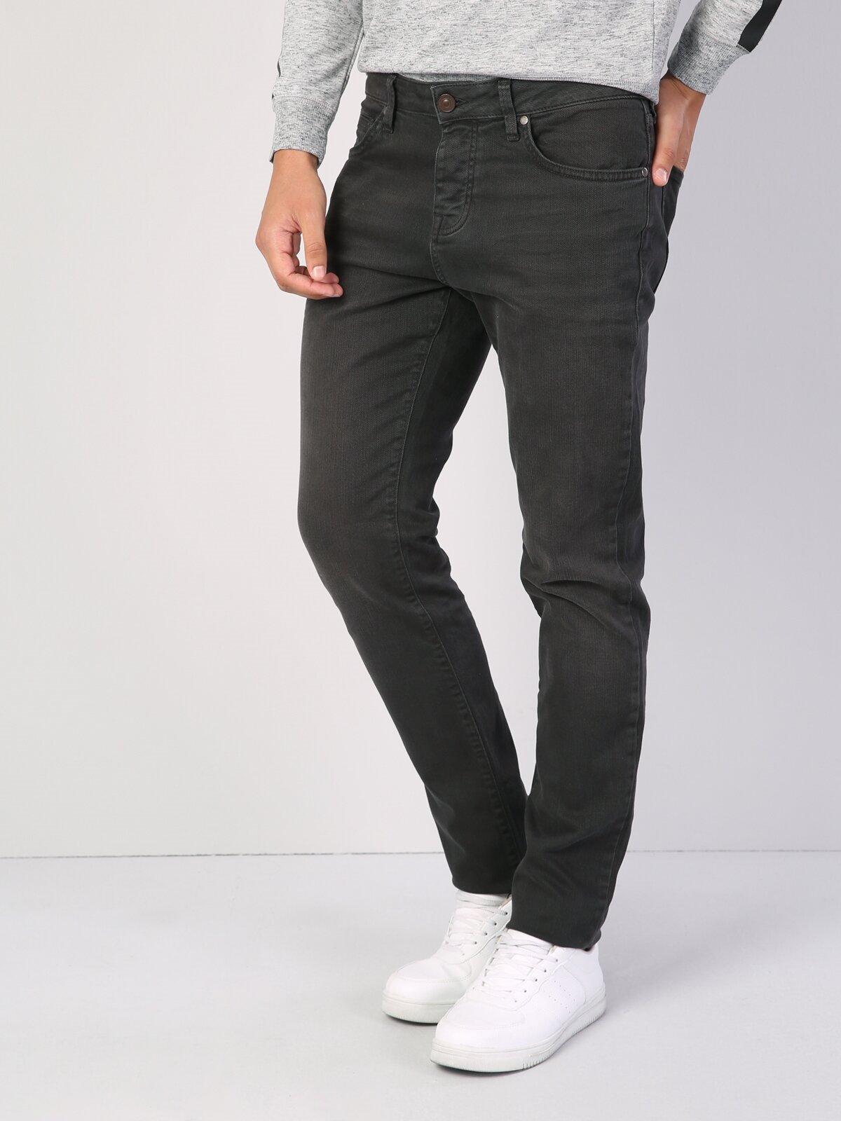 044 Karl Straight Fit Orta Bel Düz Paça  Erkek Antrasit Pantolon