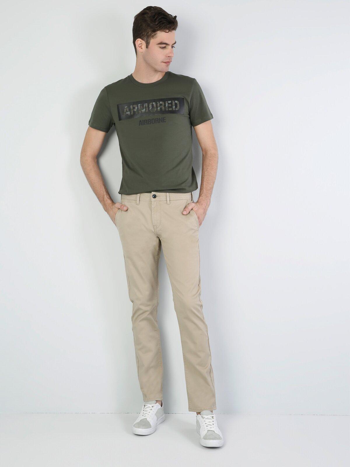 Dar Kesim Erkek Gri Pantolon