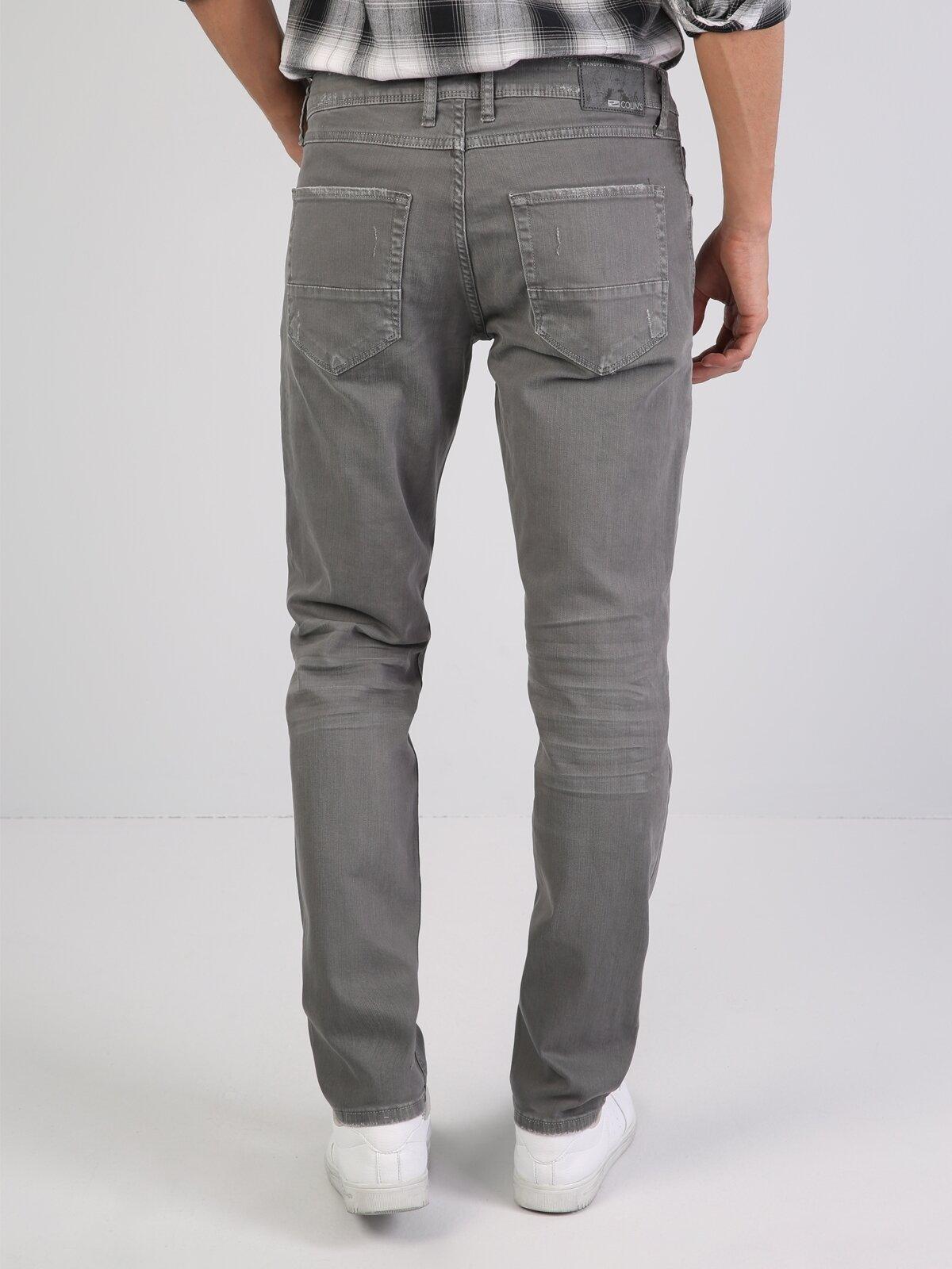 044 Karl Straight Fit Orta Bel Düz Paça  Erkek Açık Gri Pantolon