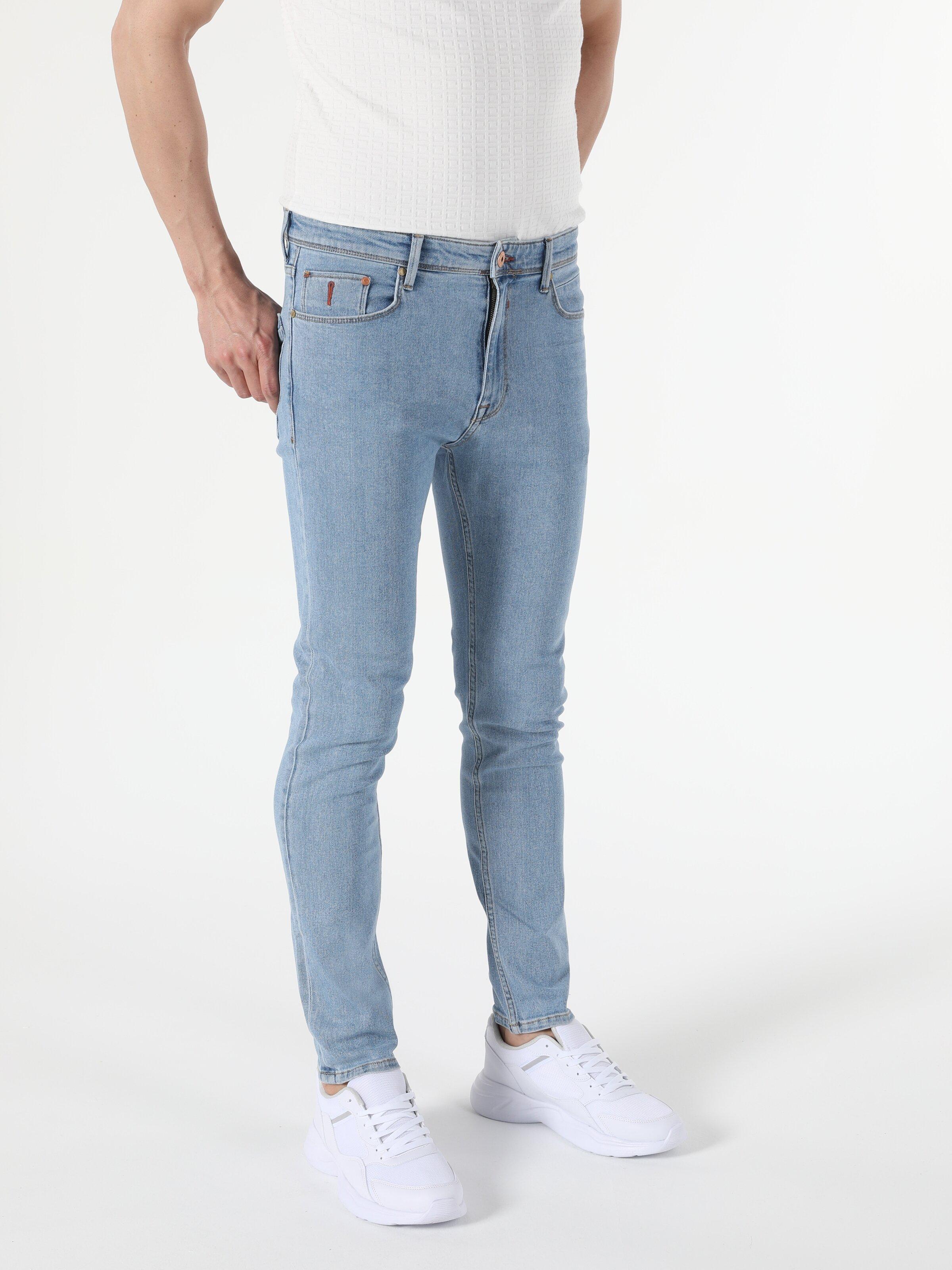 035 Ryan Yüksek Bel Dar Paça Skinny Fit Erkek Jean Pantolon