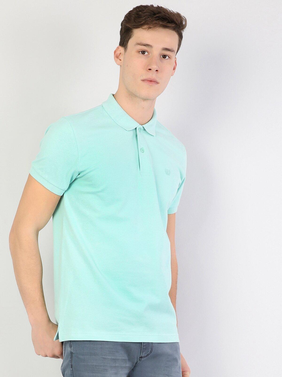 Polo Yaka Mint Yeşili Kısa Kol Tişört