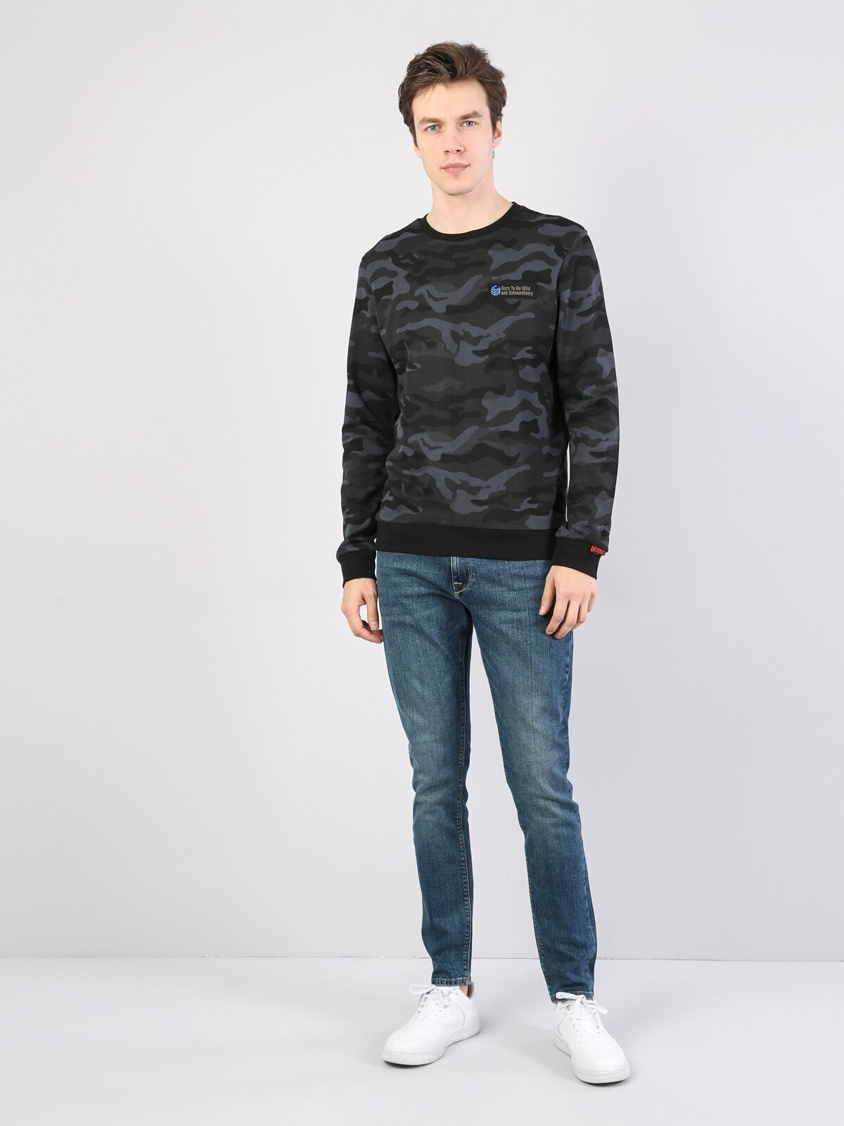 Slim Fiterkek Sweatshirt