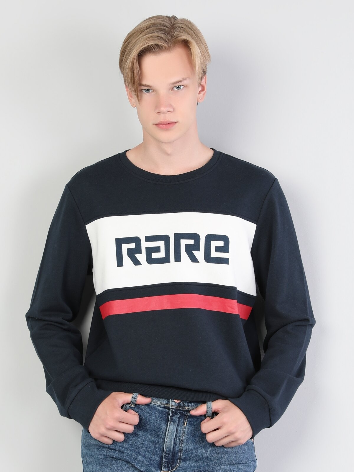 Regular Fit  Erkek Lacivert Sweatshirt
