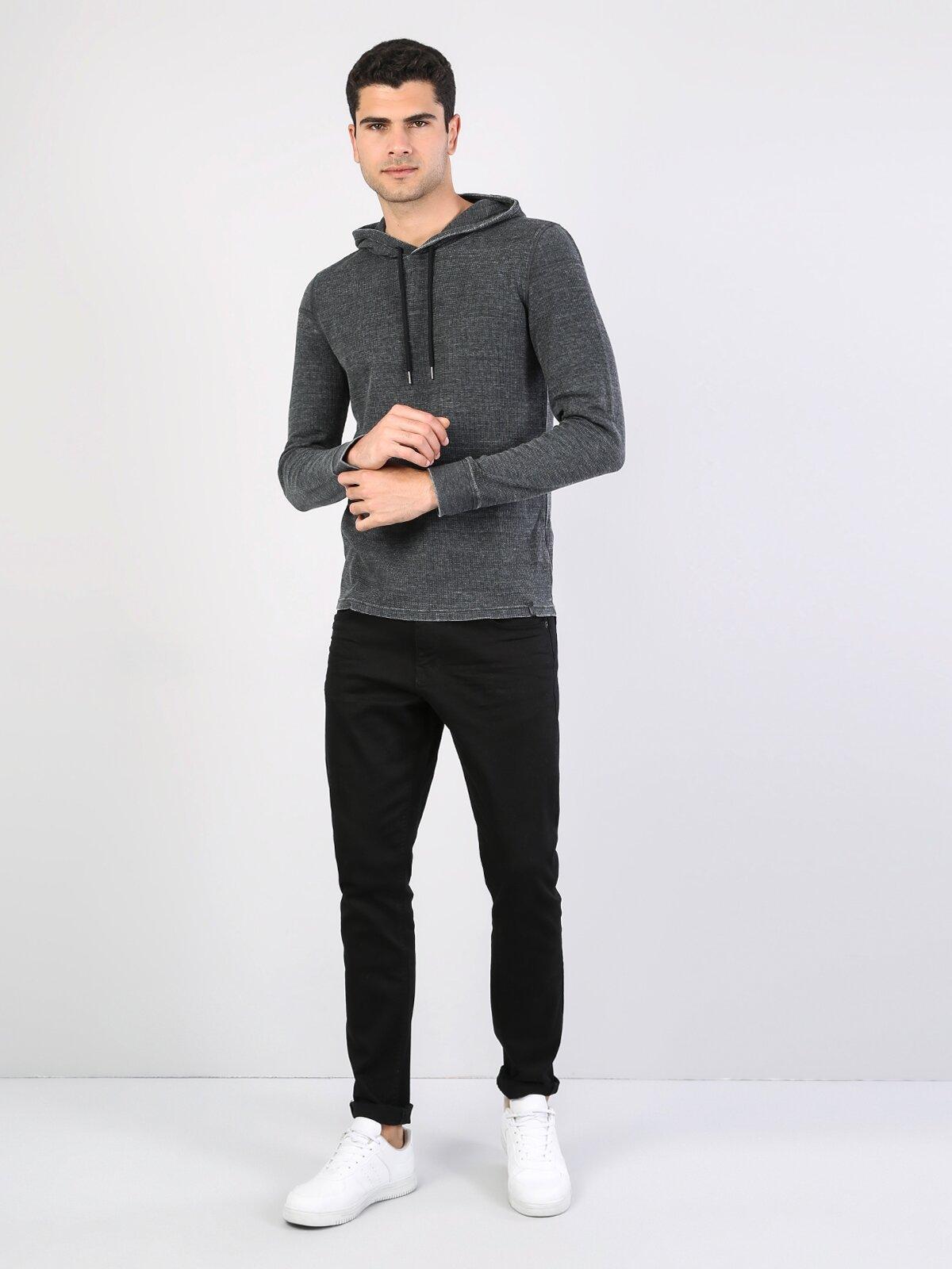 Antra Melanj Kaplumbağa Yaka Uzun Kol Tişört