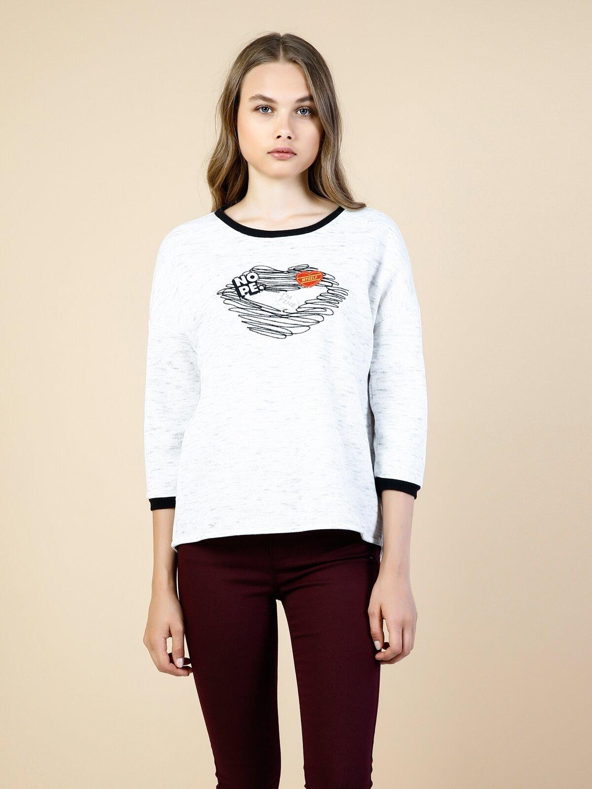 Gri Kadın Sweatshirt