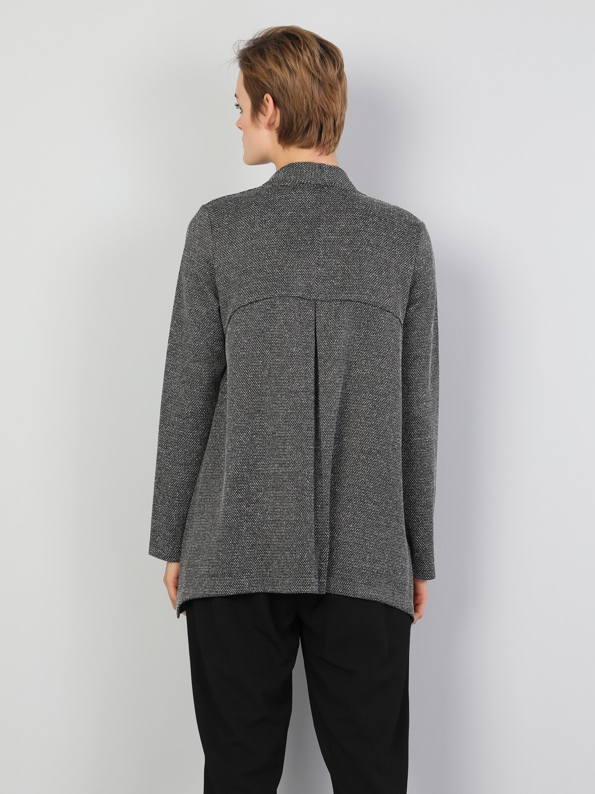 Regular Fit  Kadın Siyah Ceket