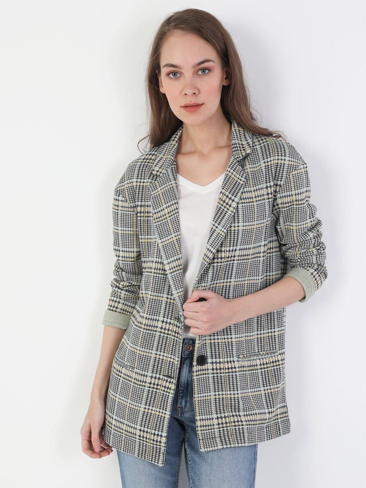 Regular Fit  Kadın Gri Ceket