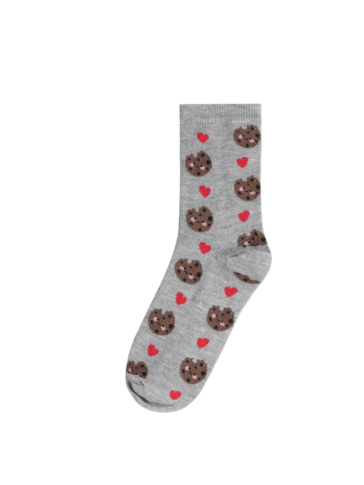 Modern Fit  Kadın Gri Melanj Çorap