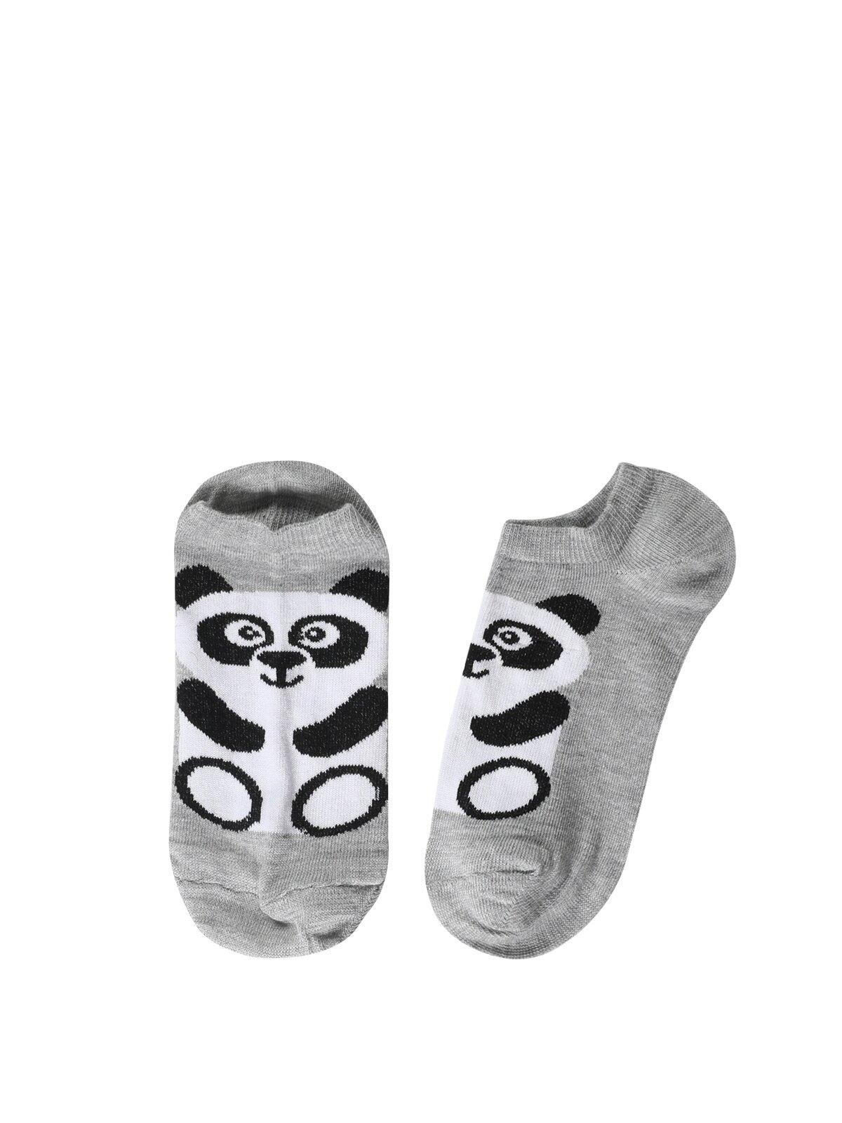 Modern Fit Gri Melanj Kadın Çorap