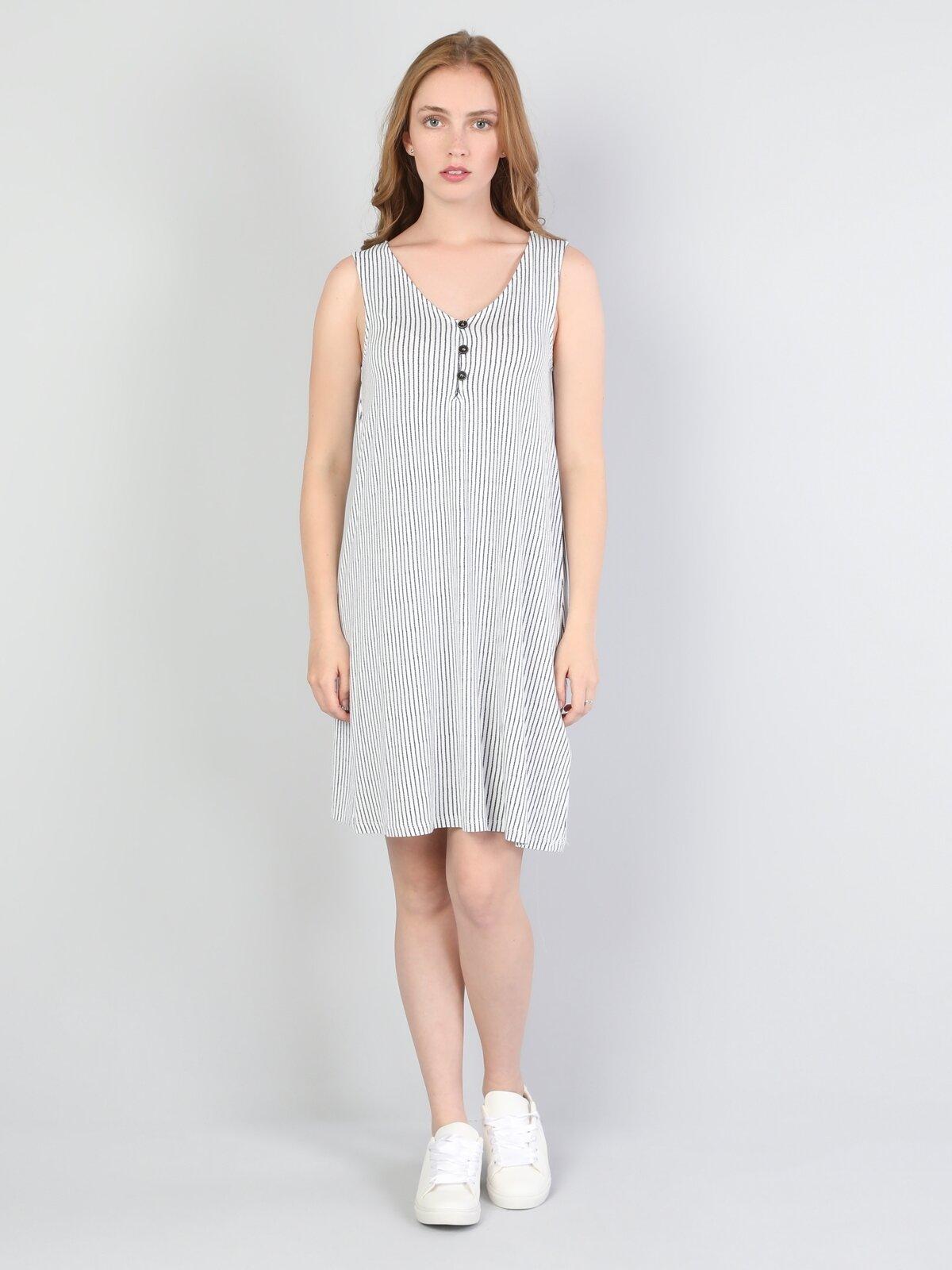 Regular Fit  Kadın Beyaz Elbise