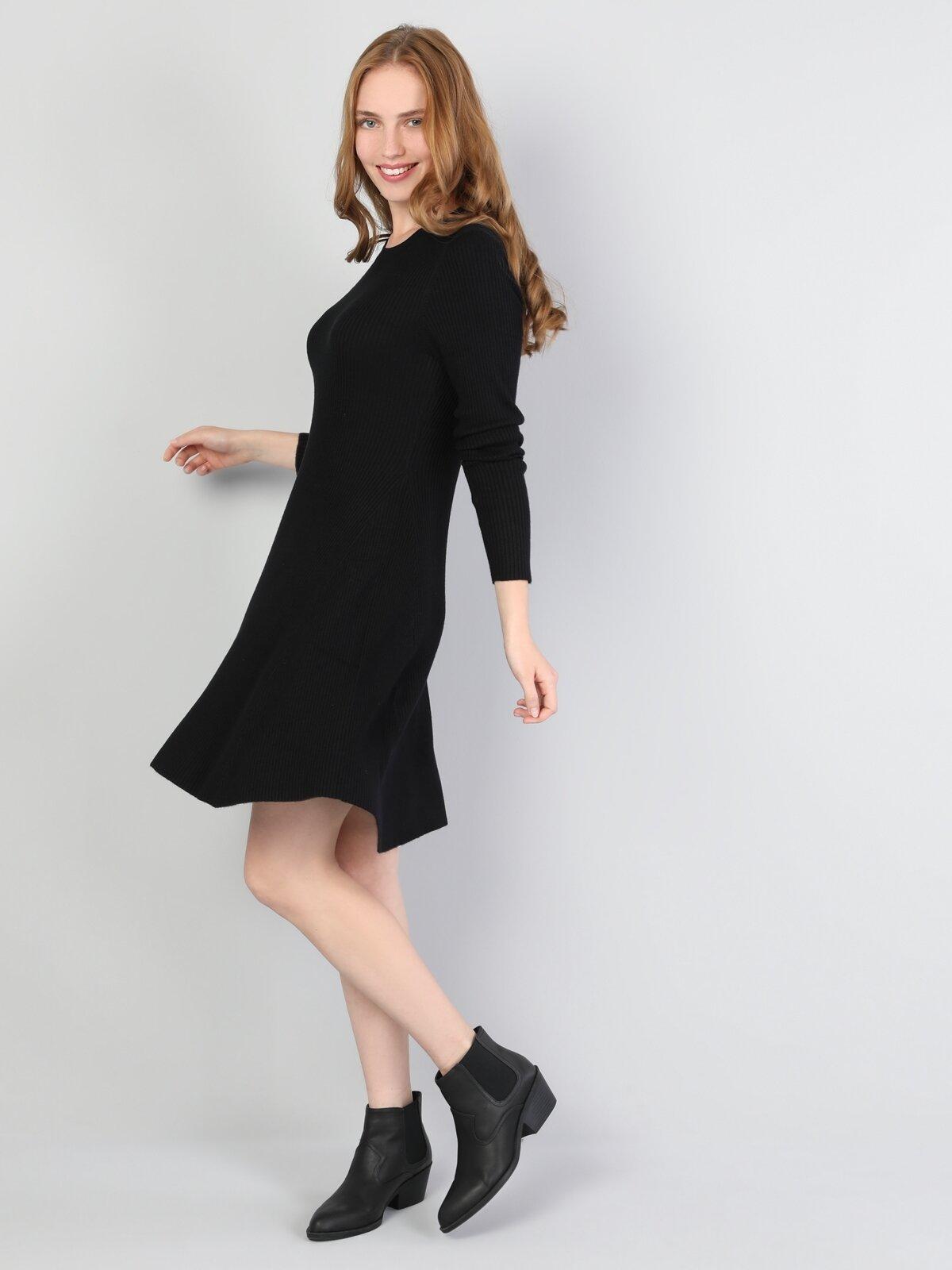 Slim Fit  Kadın Siyah Elbise