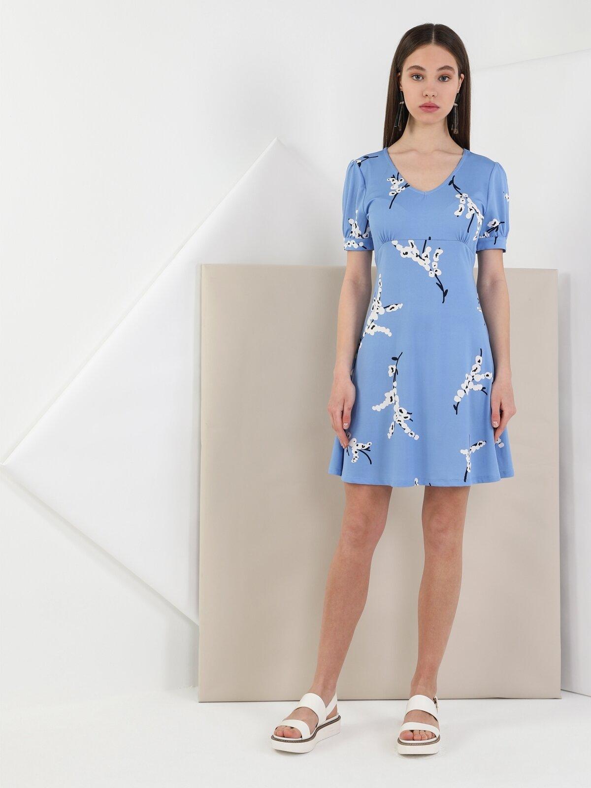 Regular Fit  Kadın Mavi Elbise