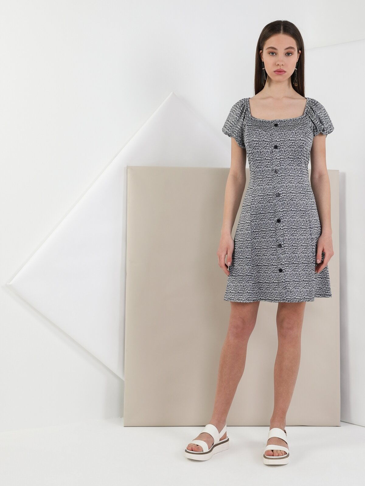 Regular Fit Standart Kolsiyah Kadın Elbise