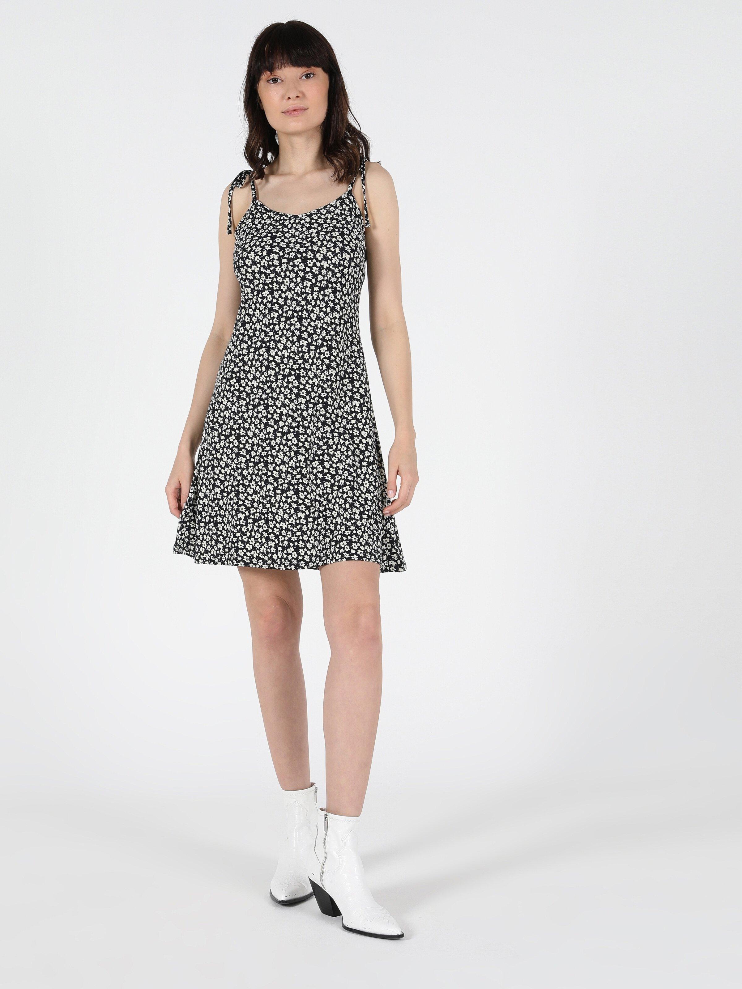 Regular Fit Kısa Kollacivert Kadın Elbise