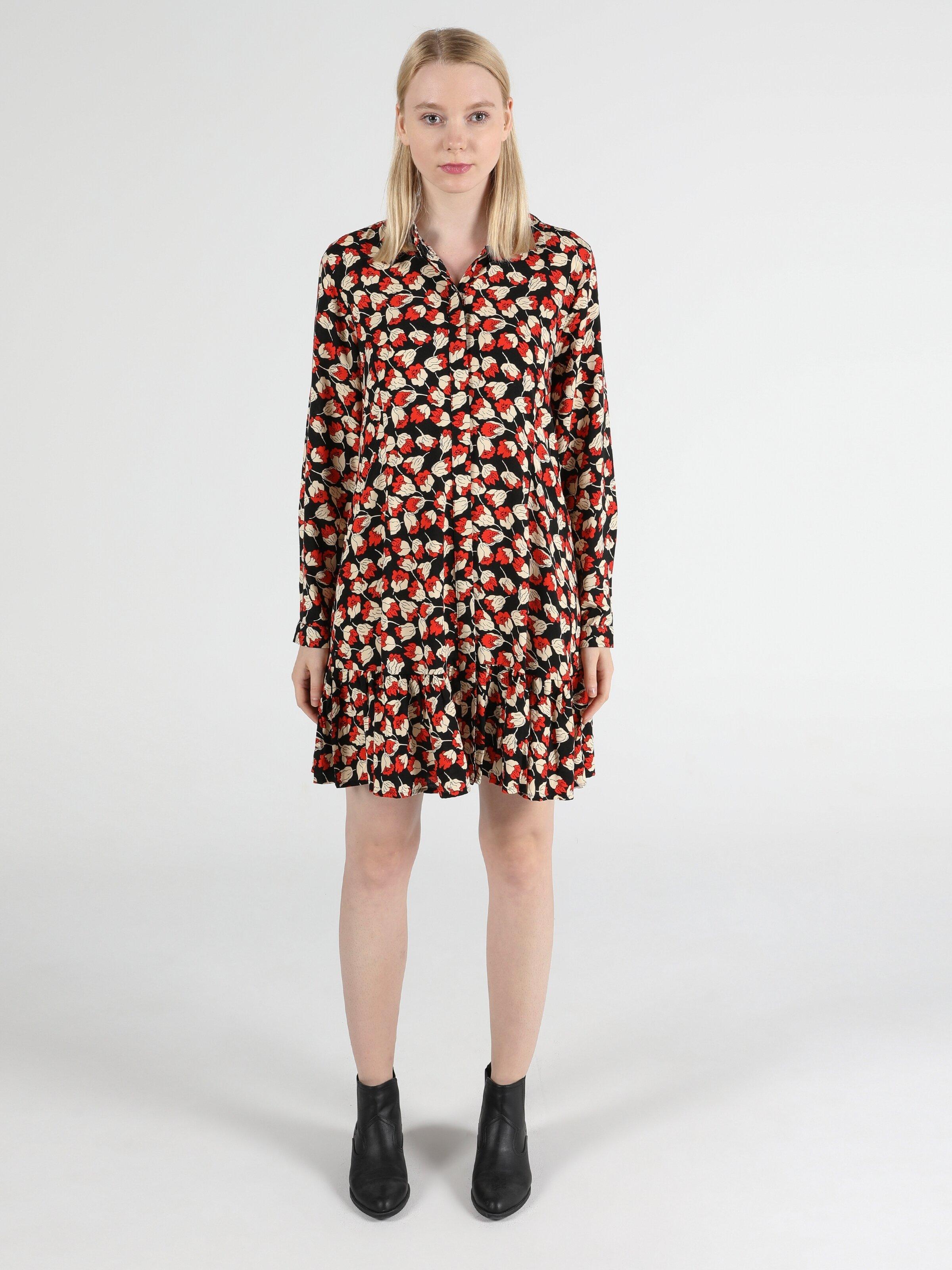 Regular Fit  Kadın Çok Renkli Elbise