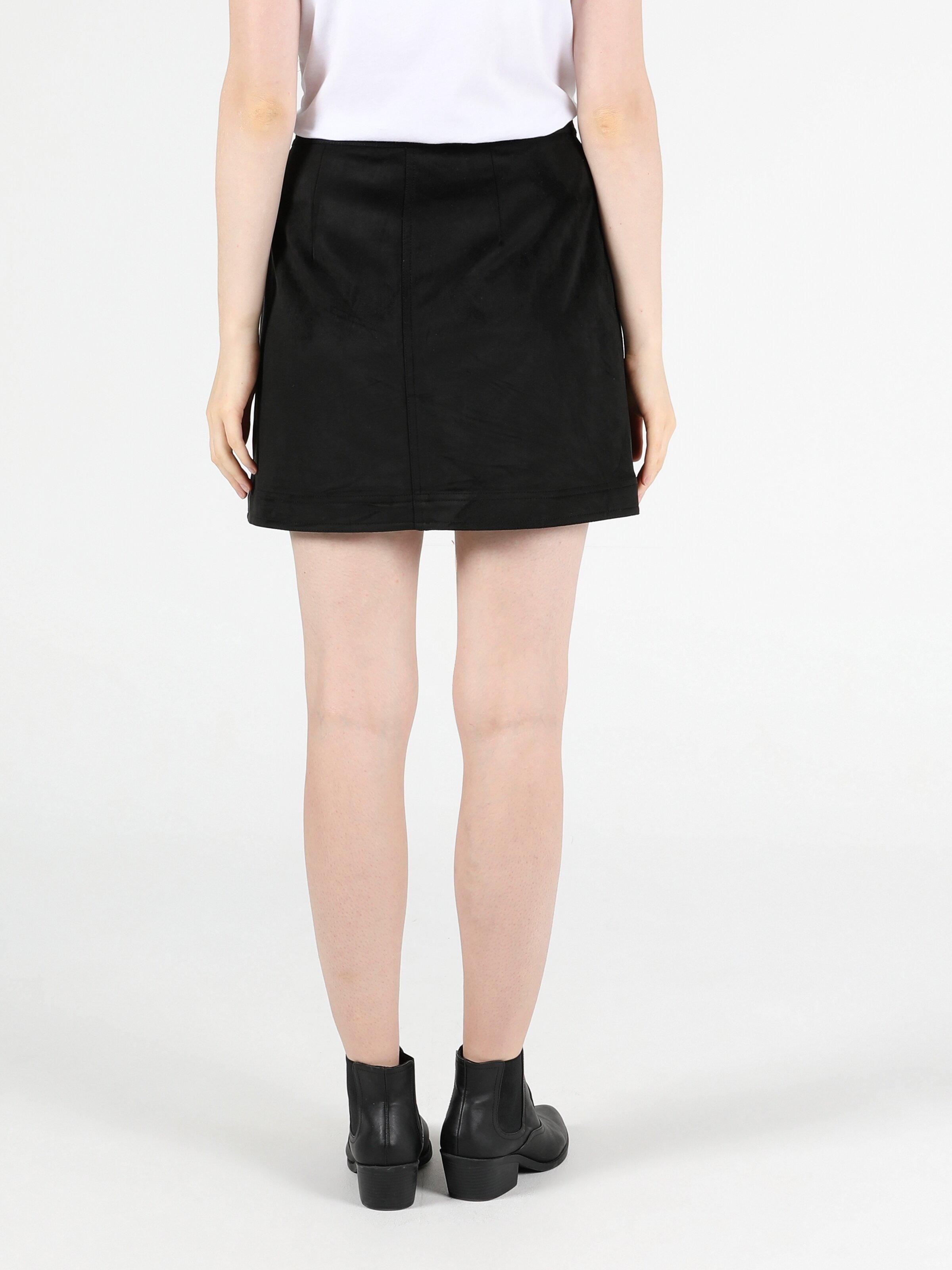 Mini Length  Kadın Siyah Etek