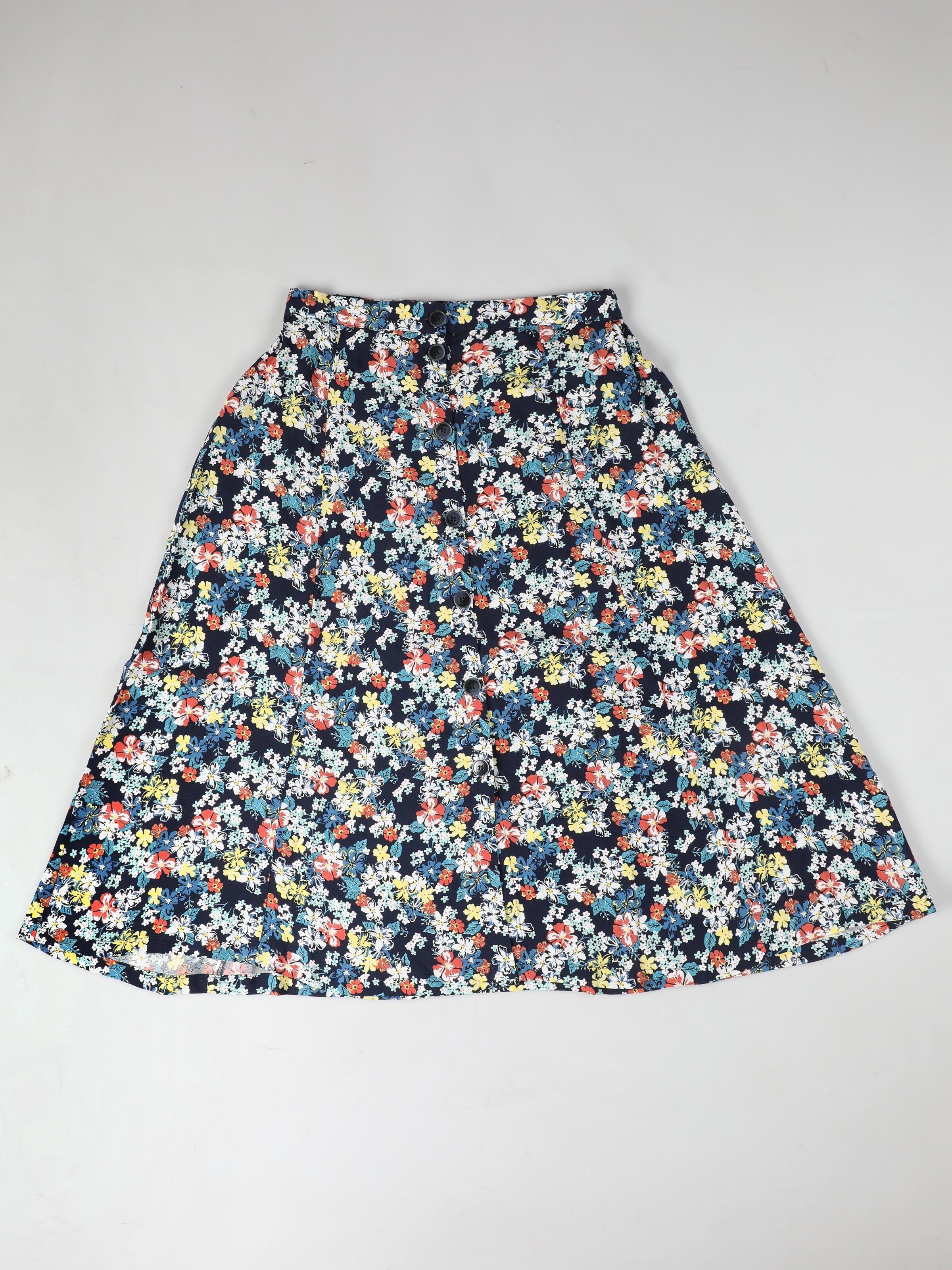 Midi Skirt  Kadın Çok Renkli Etek