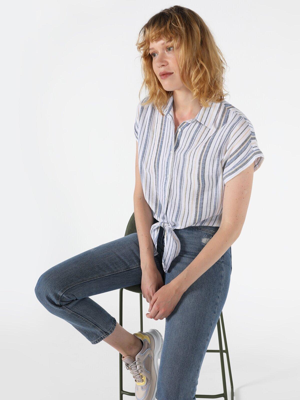 Kadın Kısa Kol Gömlek