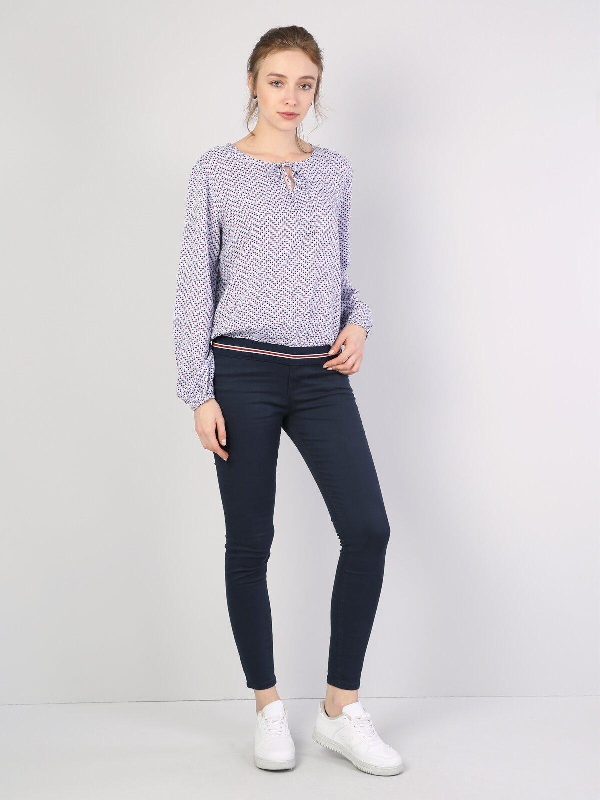 Süper Dar Kesim Lacivert Kadın Pantolon