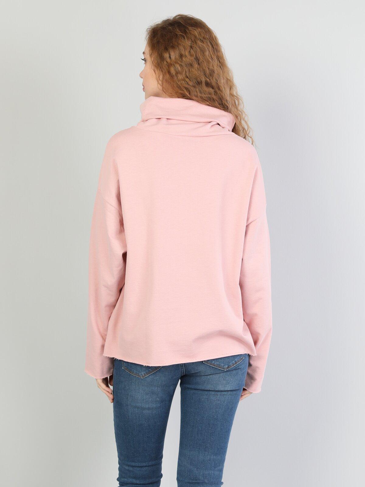 Comfort Fit  Kadın Pembe Sweatshirt