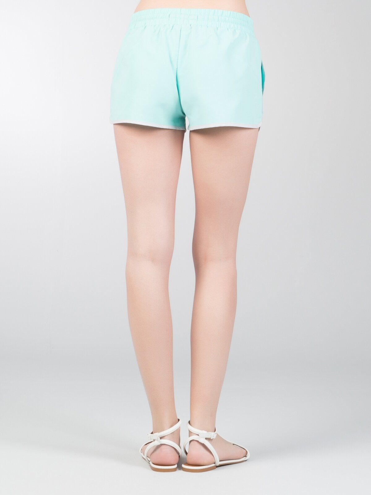 Slim Fit  Kadın Mint Yeşili Deniz Şortu