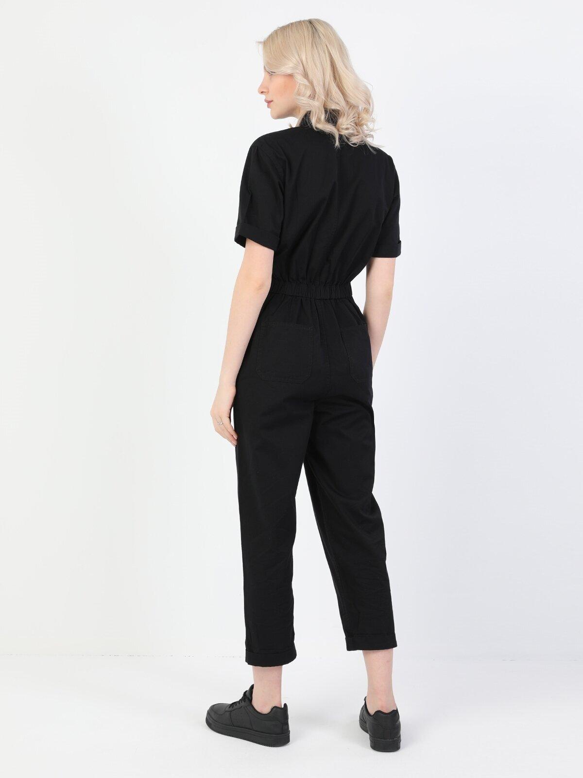 Regular Fit  Kadın Siyah Elbise