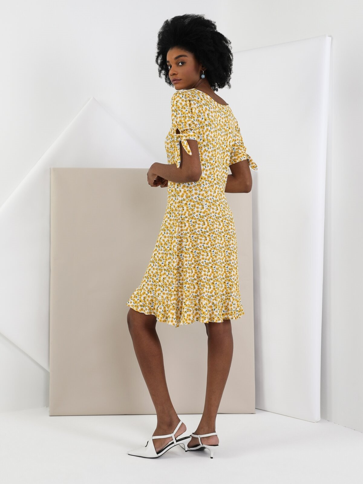 Regular Fit  Kadın Sarı Elbise