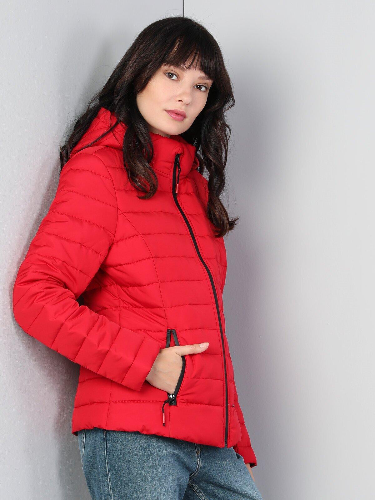 Regular Fit  Kadın Kırmızı Mont