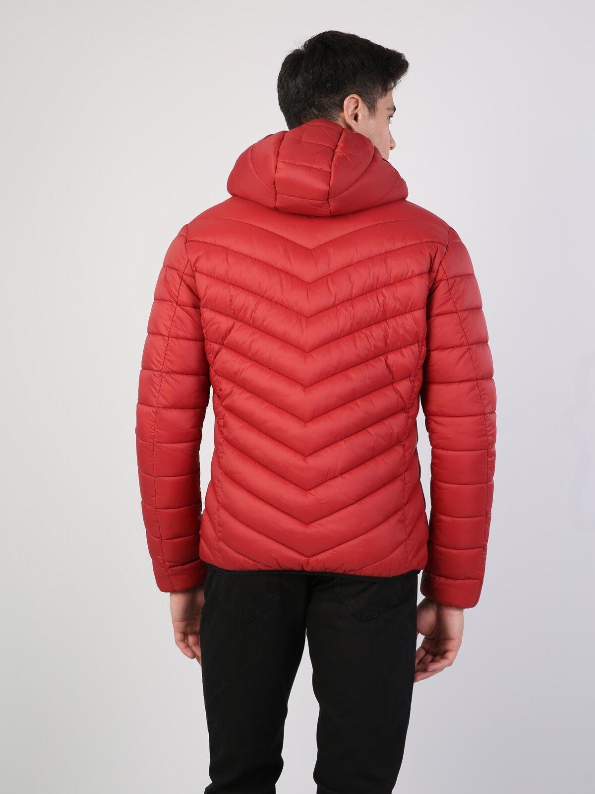 Slim Fit  Erkek Kırmızı Mont