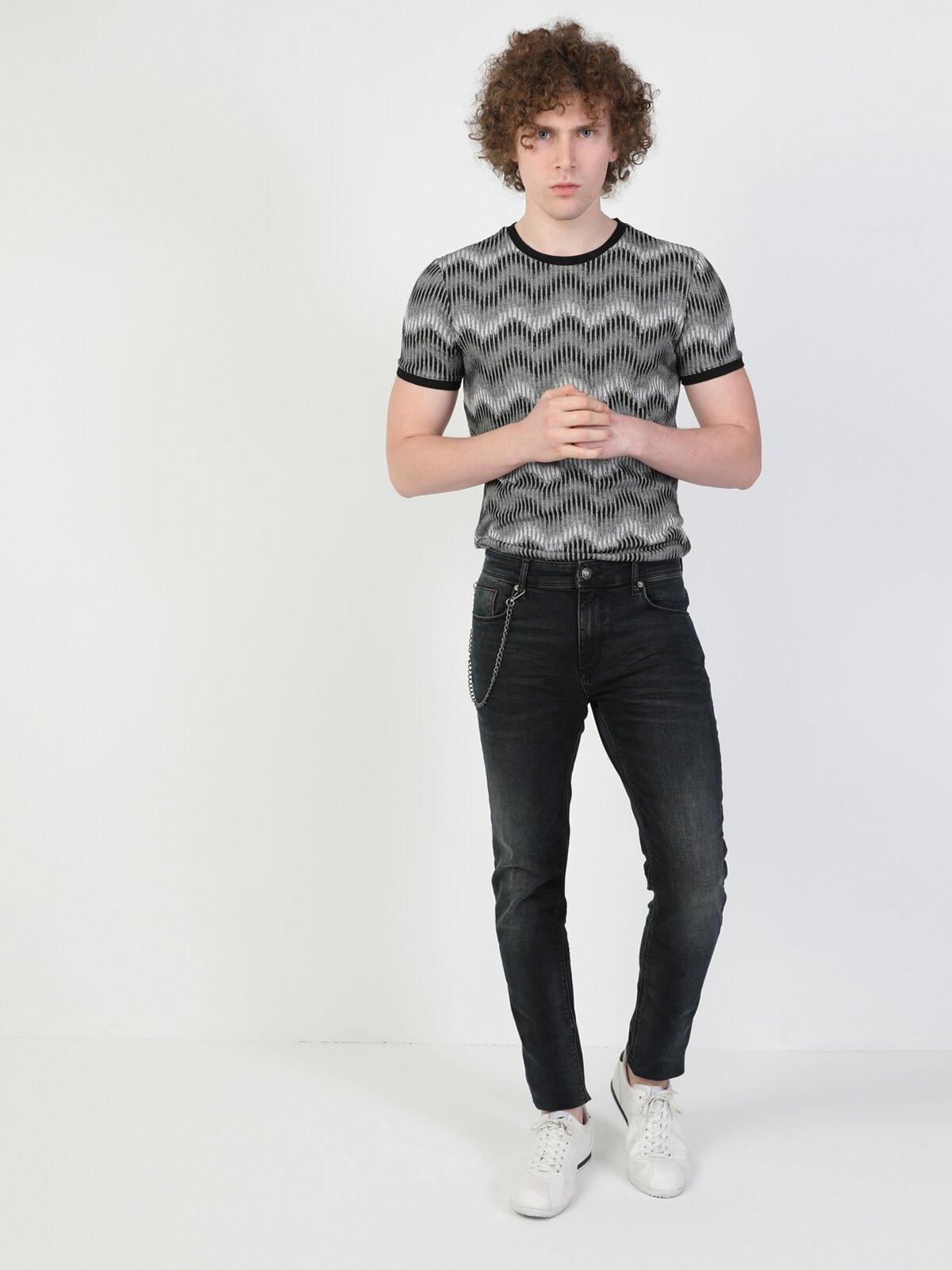 041 Danny Slim Fit Koyu Mavi Erkek Jean Pantolon