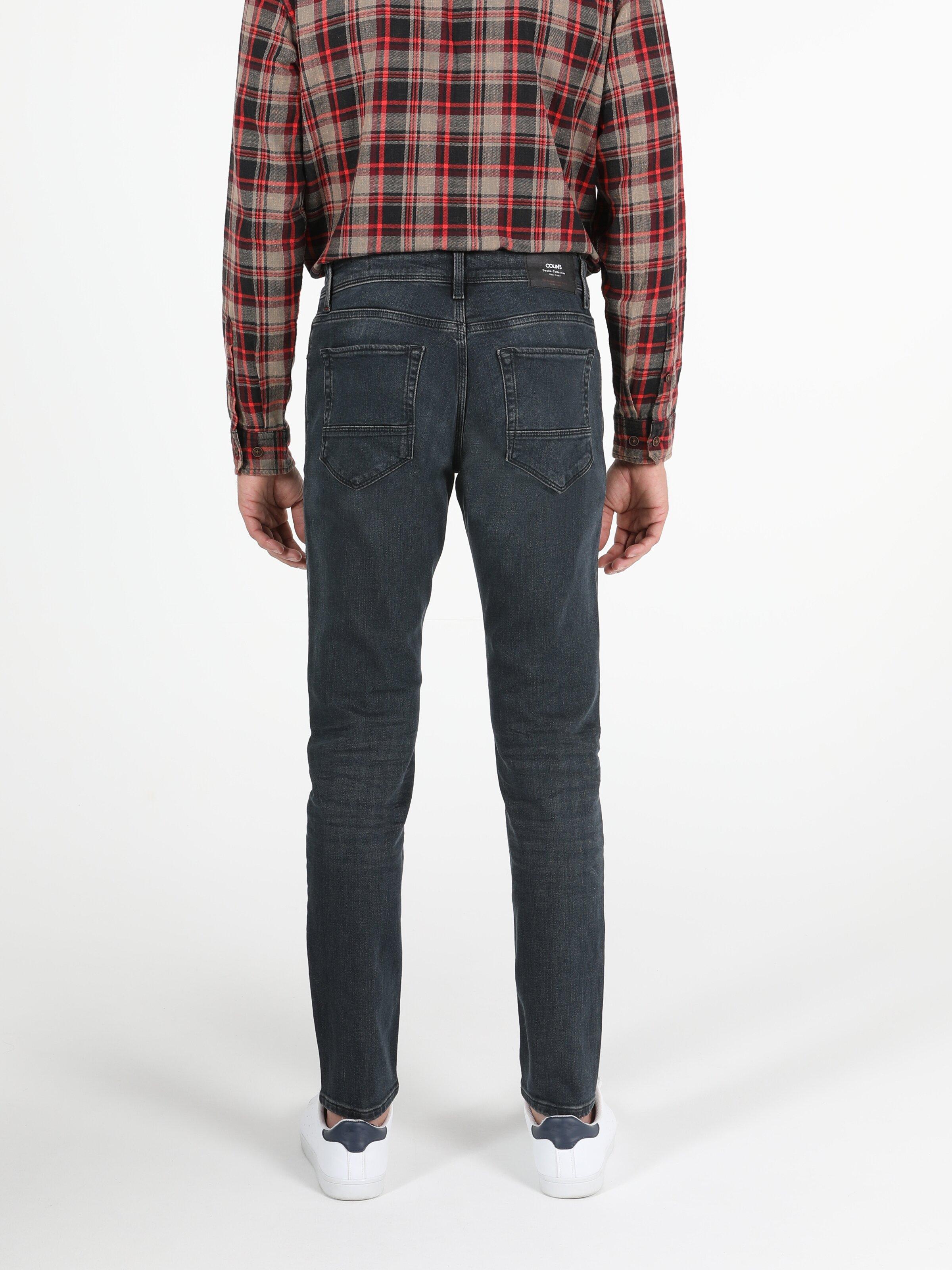 041 Danny Düşük Bel Dar Paça Slim Fit Koyu Mavi Erkek Jean Pantolon