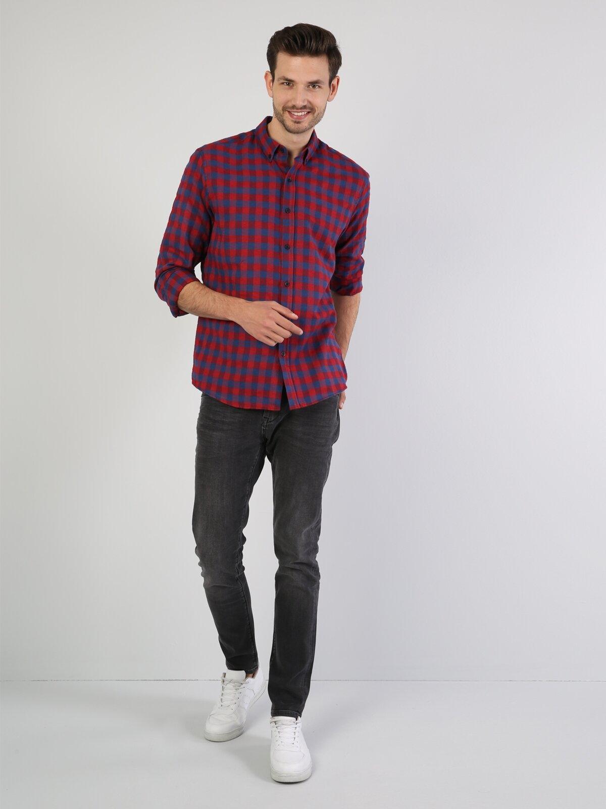 Lacivert Uzun Kol Gömlek