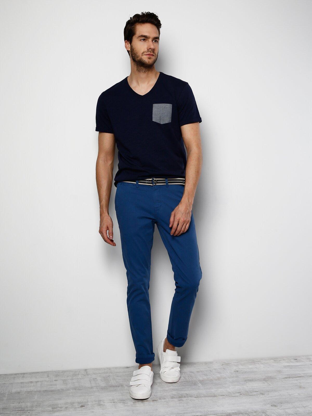 Slim Fit  Erkek Mavi Pantolon