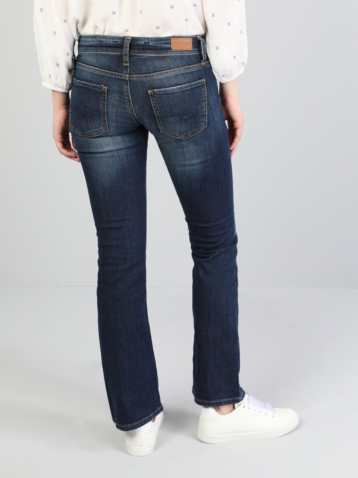 741 Anya Slim Fit  Kadın İndigo Jean Pantolon