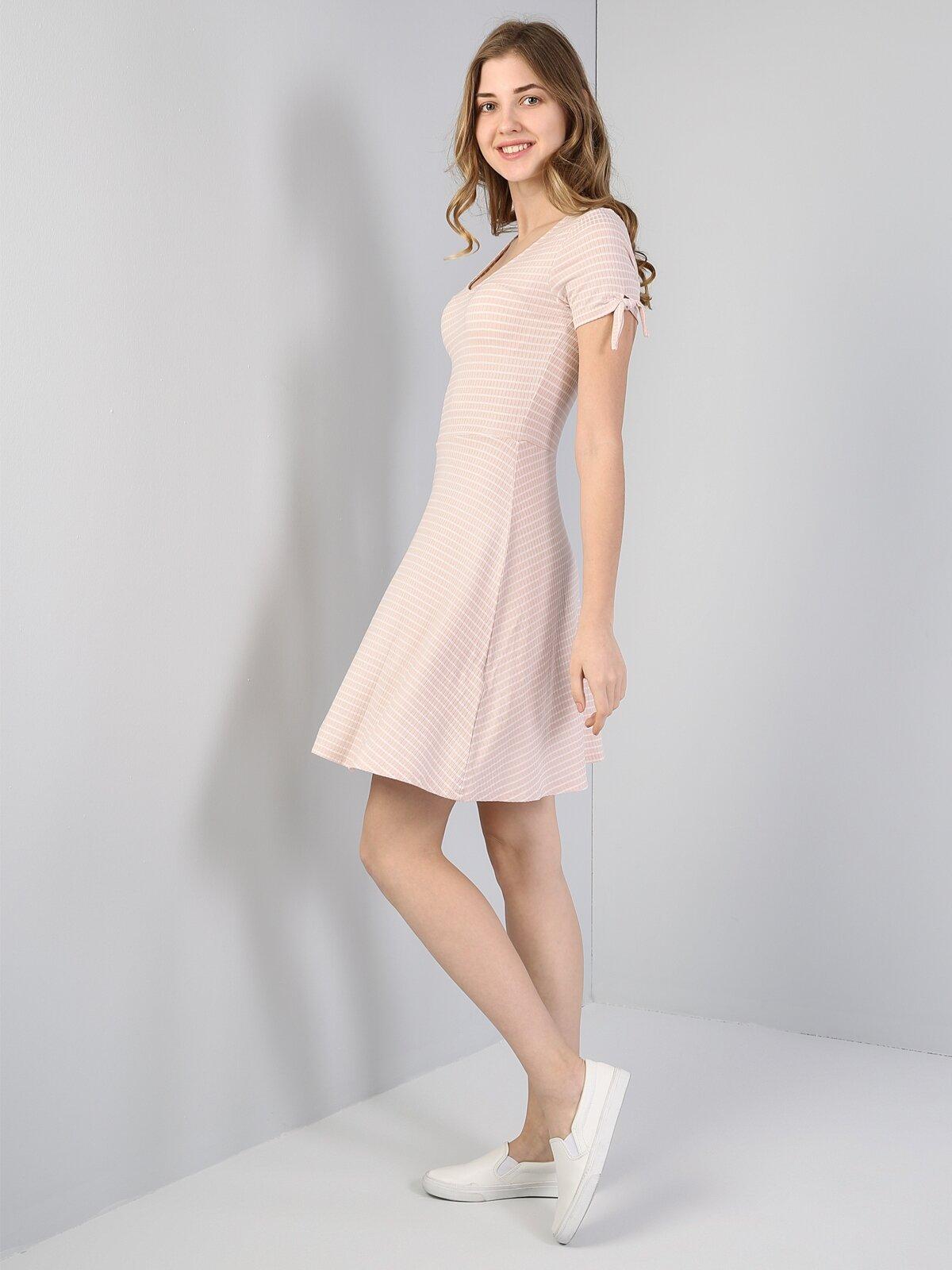 Slim Fit  Kadın Pembe Elbise