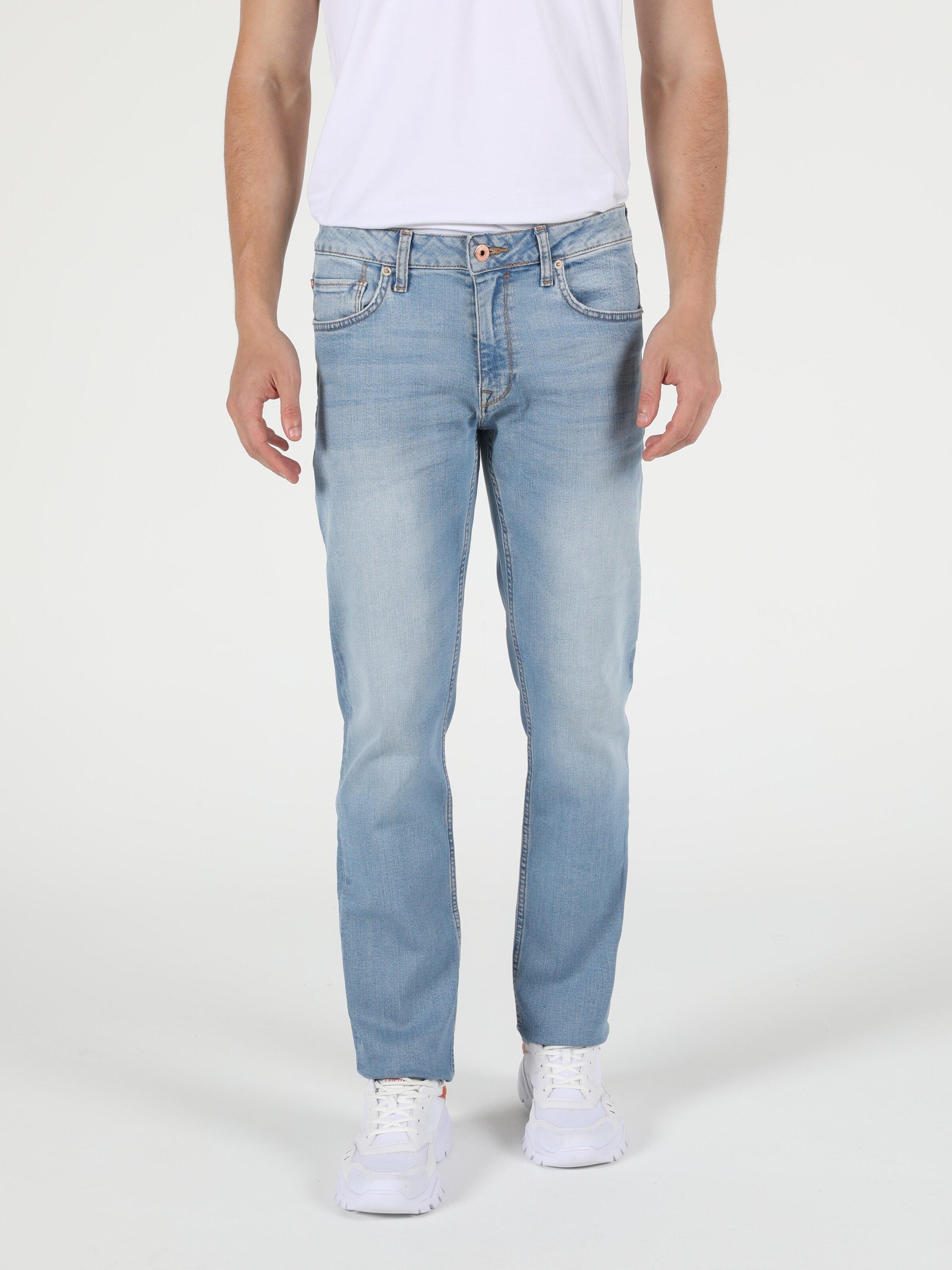 045 David Regular Fit Orta Bel Düz Paça  Erkek  Jean Pantolon