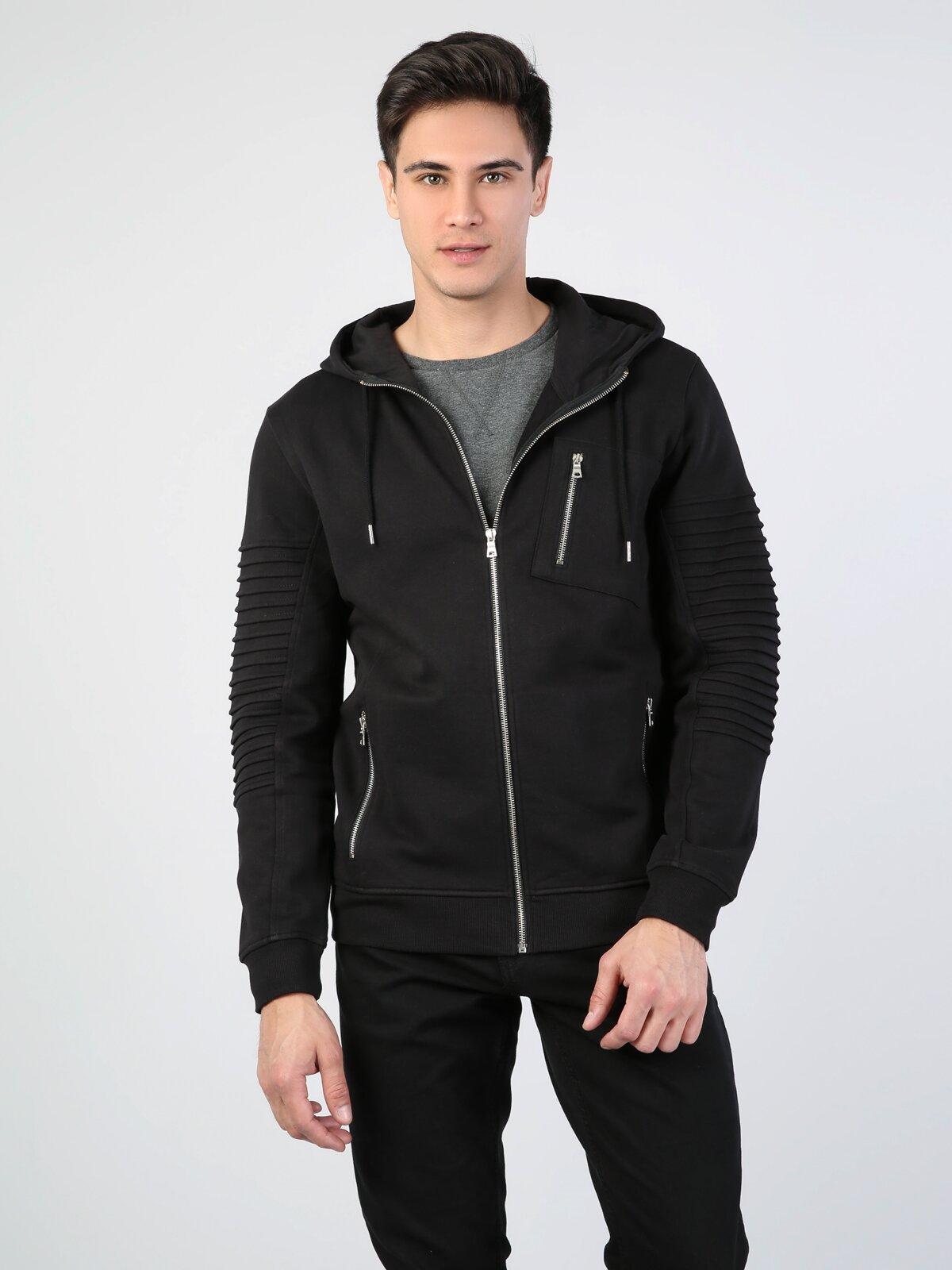 Slim Fit  Erkek Siyah Ceket