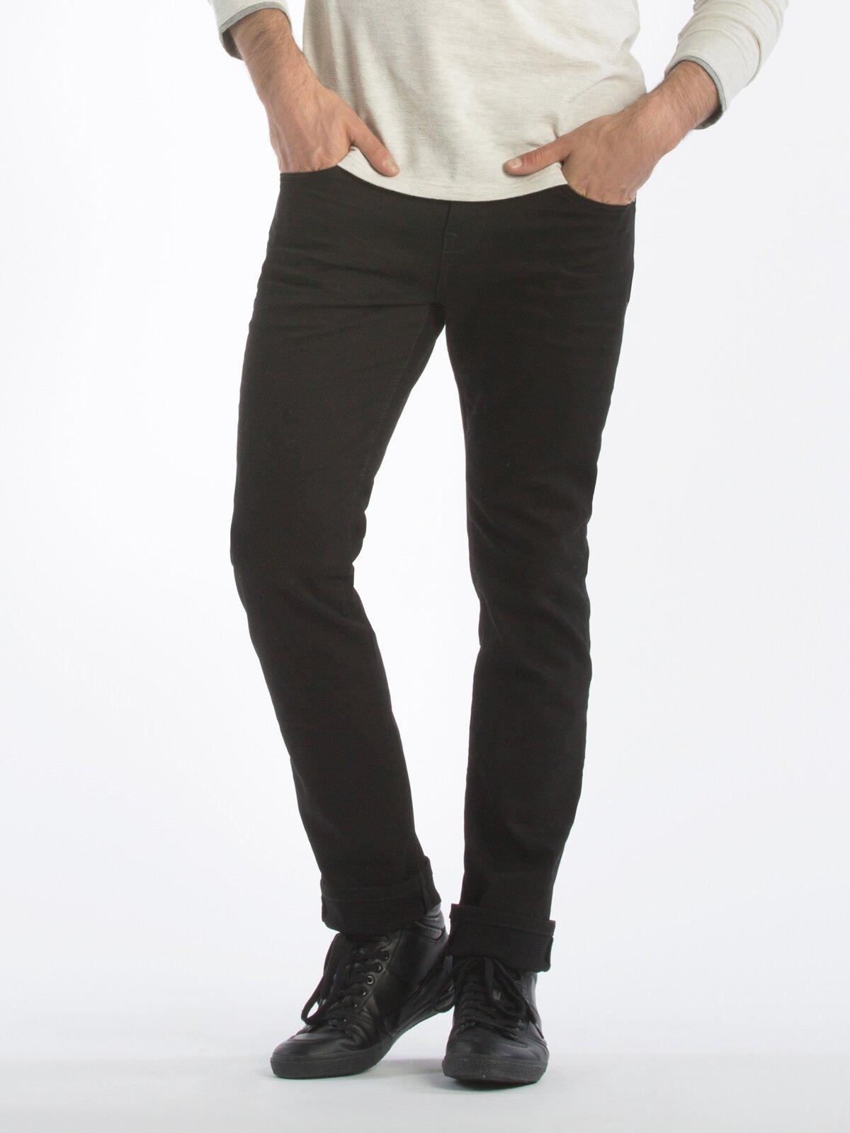 044 Karl Normal Kesim Düşük Bel Düz Paça Siyah Jean Pantolon