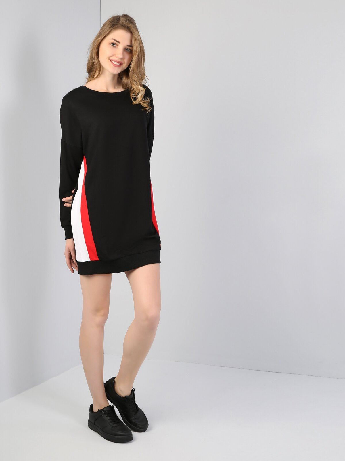 Comfort Fit  Kadın Siyah Elbise