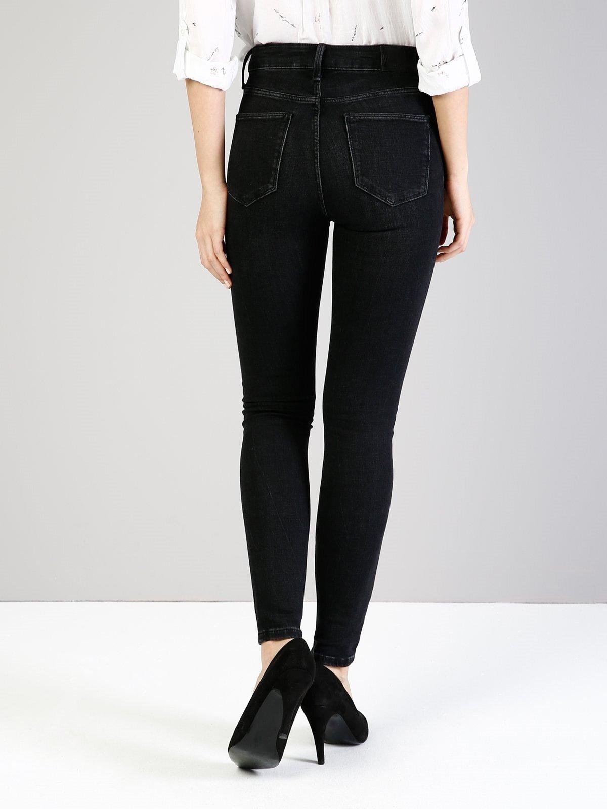 760 Diana Slim Fit Yüksek Bel Dar Paça Siyah Jean Pantolon