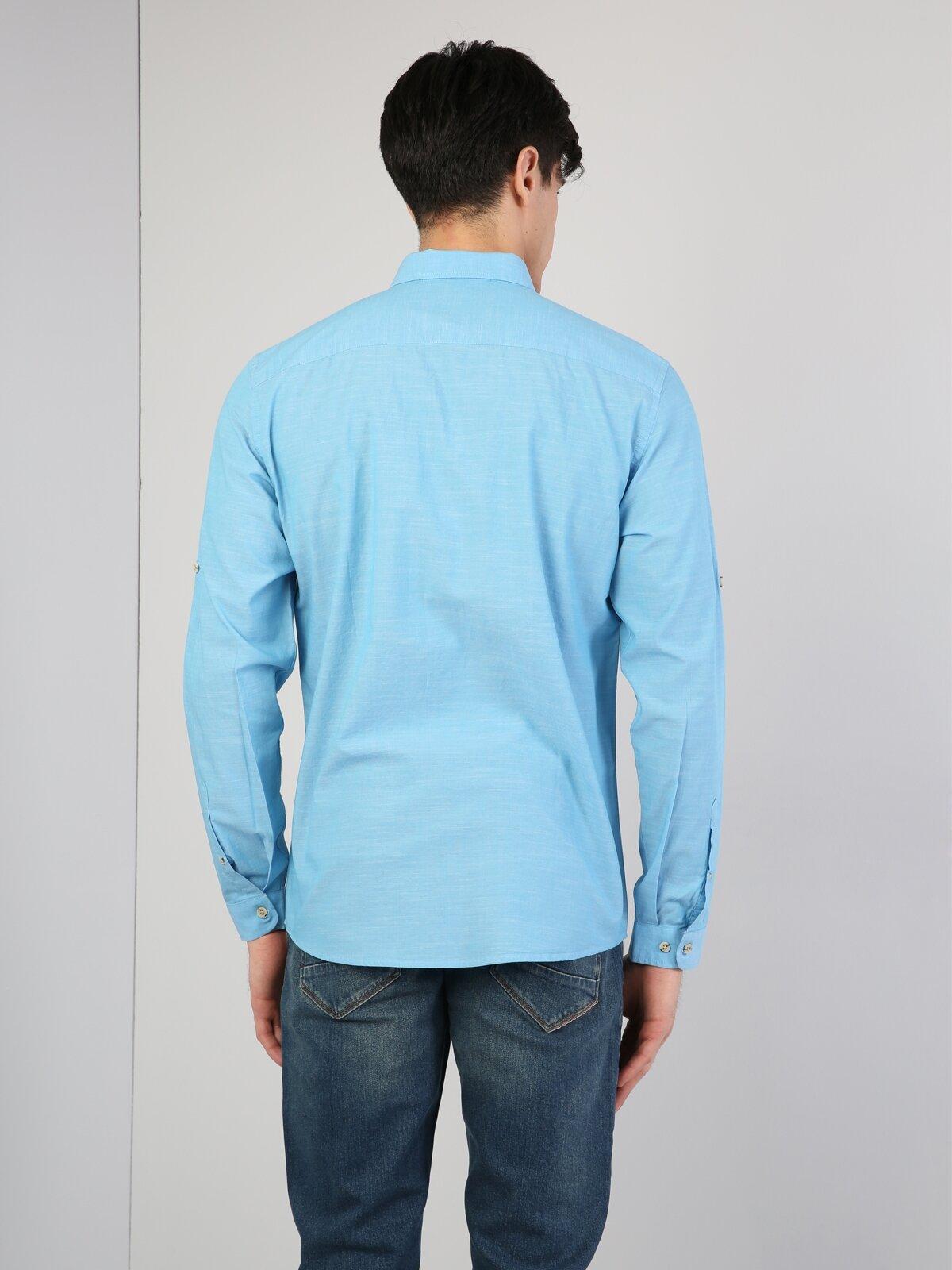 Turkuaz Uzun Kol Gömlek