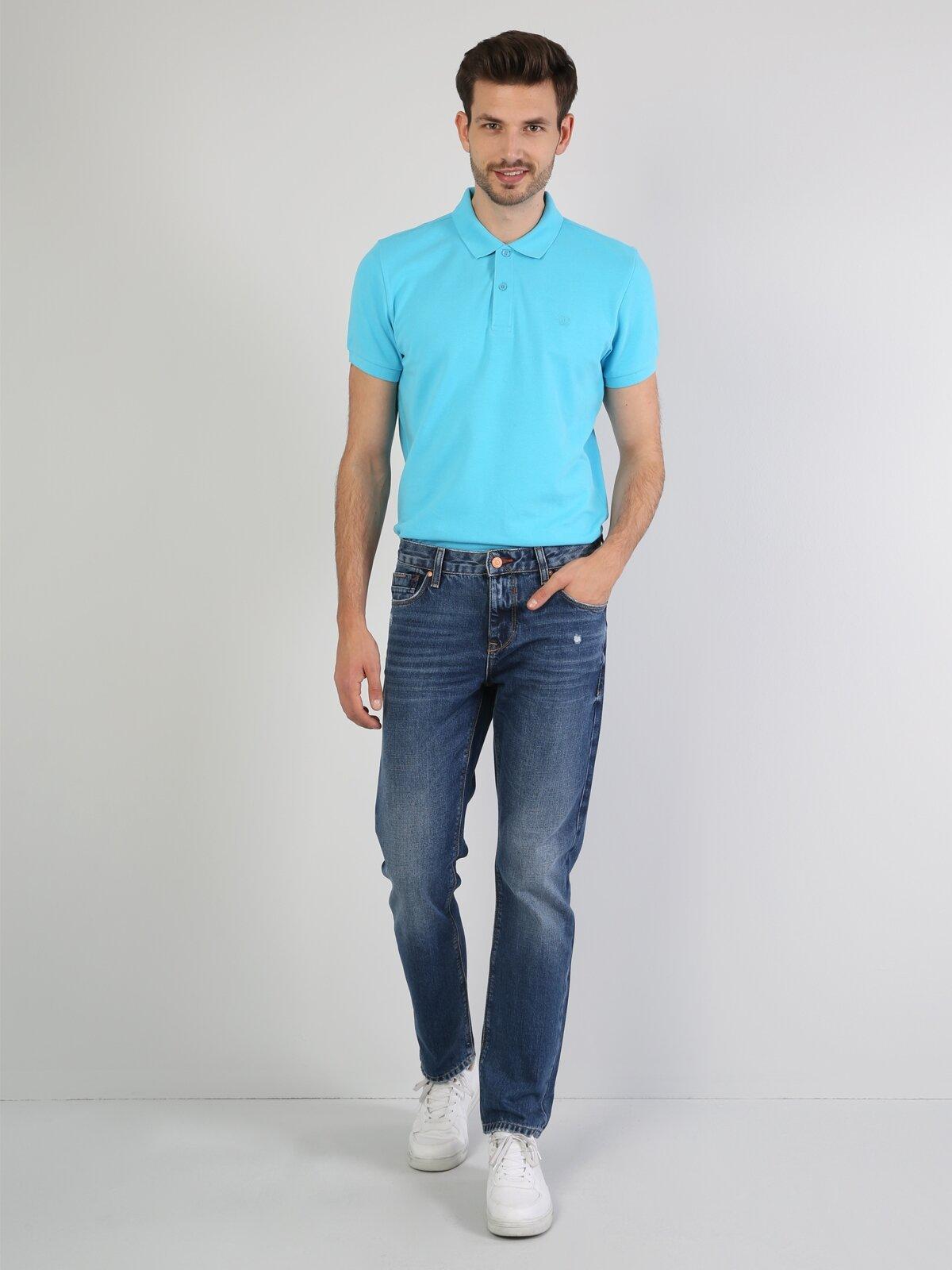 Polo Yaka Turkuaz Erkek Kısa Kol Tişört