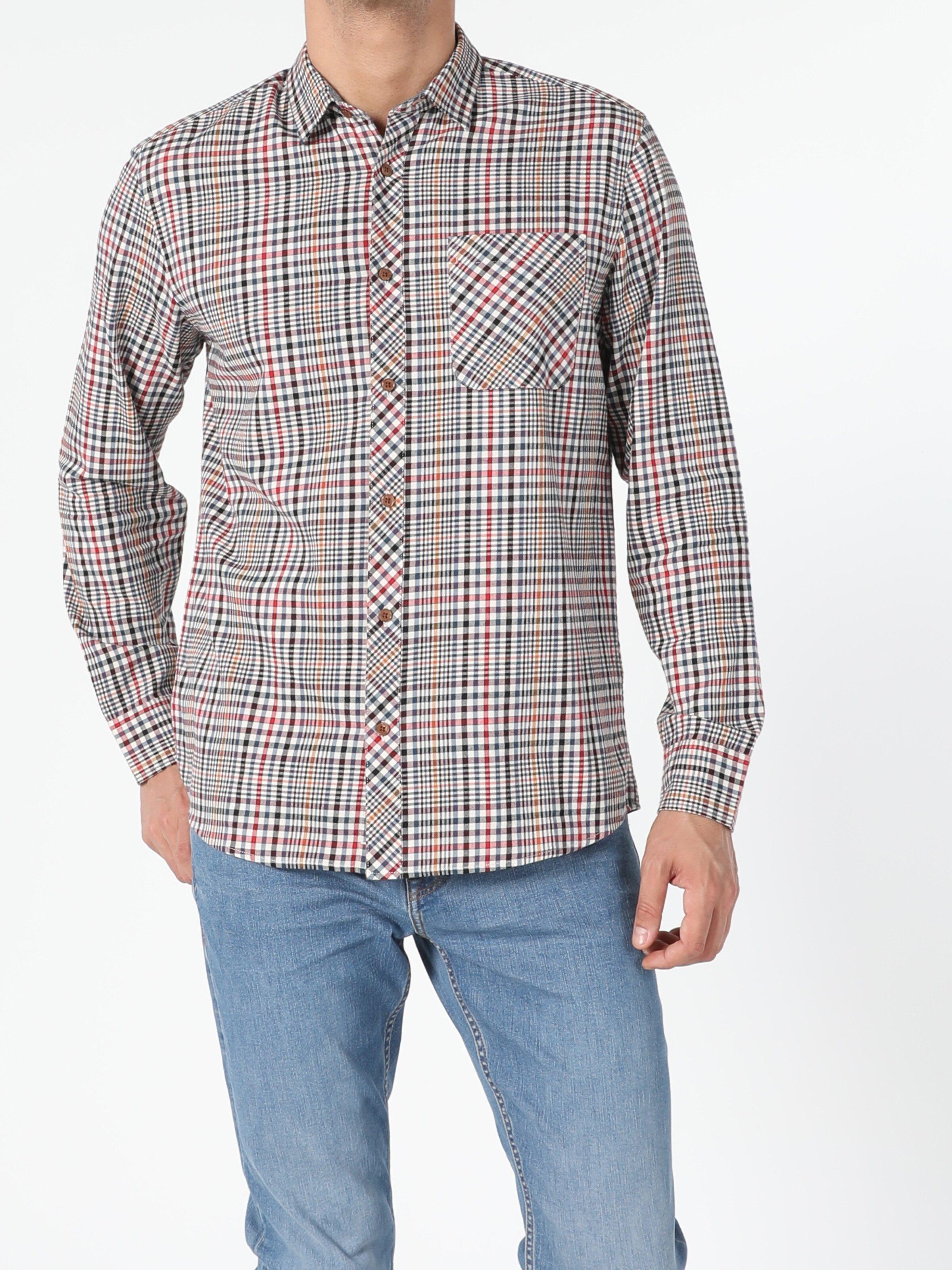 Regular Fit Erkek Uzun Kol Gömlek