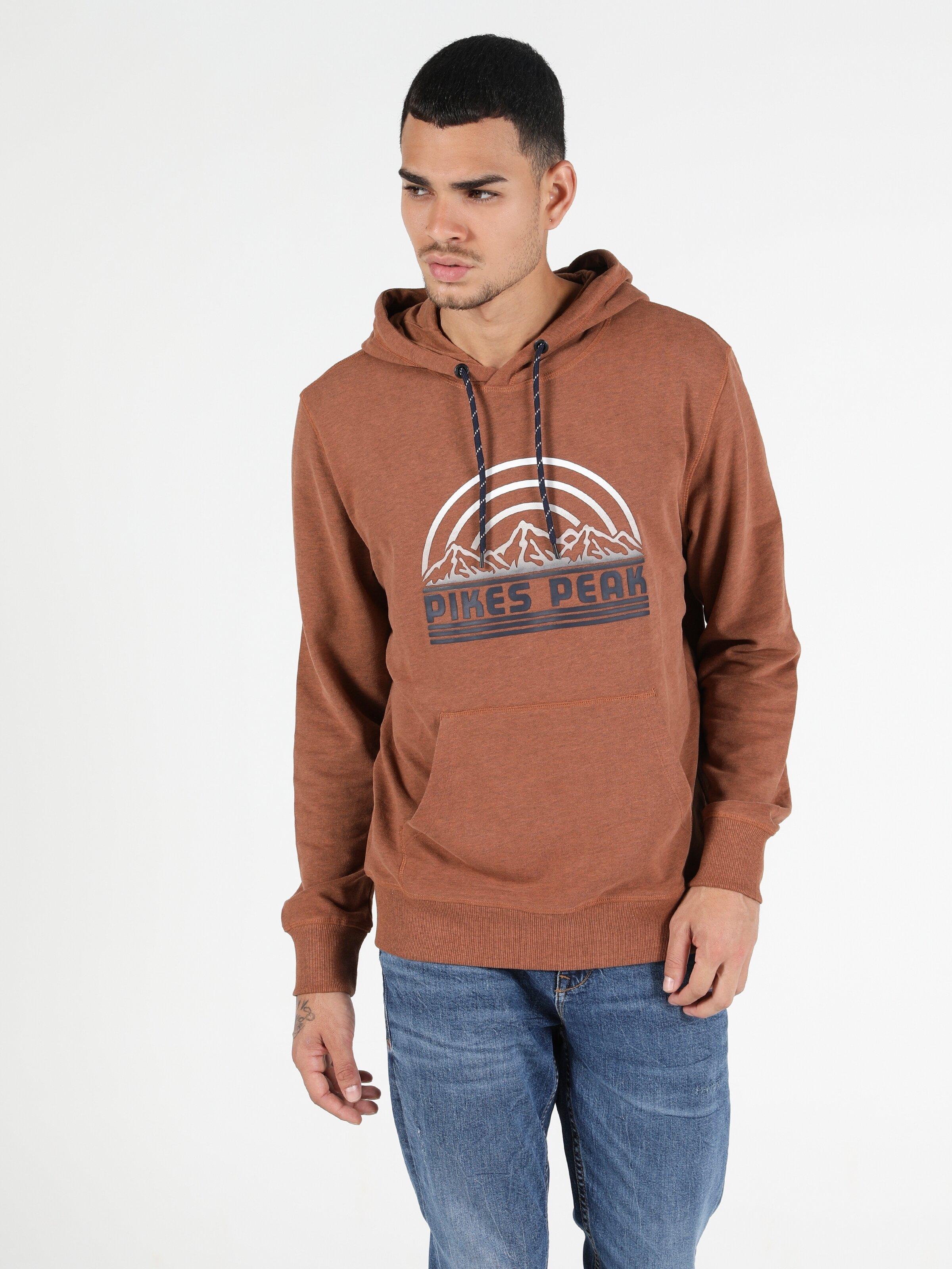 Regular Fit Erkek Turuncu Sweatshirt