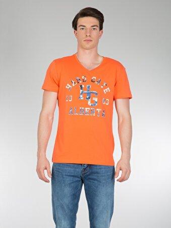 Oranj/turuncu Erkek Tshırt K.kol
