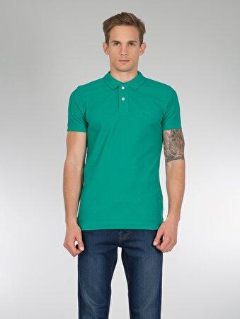 Yeşil Erkek Polo K.kol