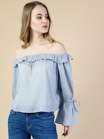 Mavi Uzun Kol Gömlek