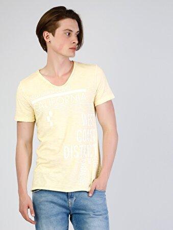 Sarı Erkek Tshirt K.kol