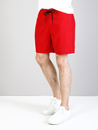 Kırmızı Erkek Deniz Şortu