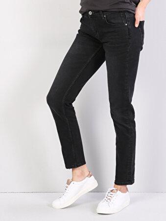 892 Alina Dar Kesim   Siyah Jean Pantolon